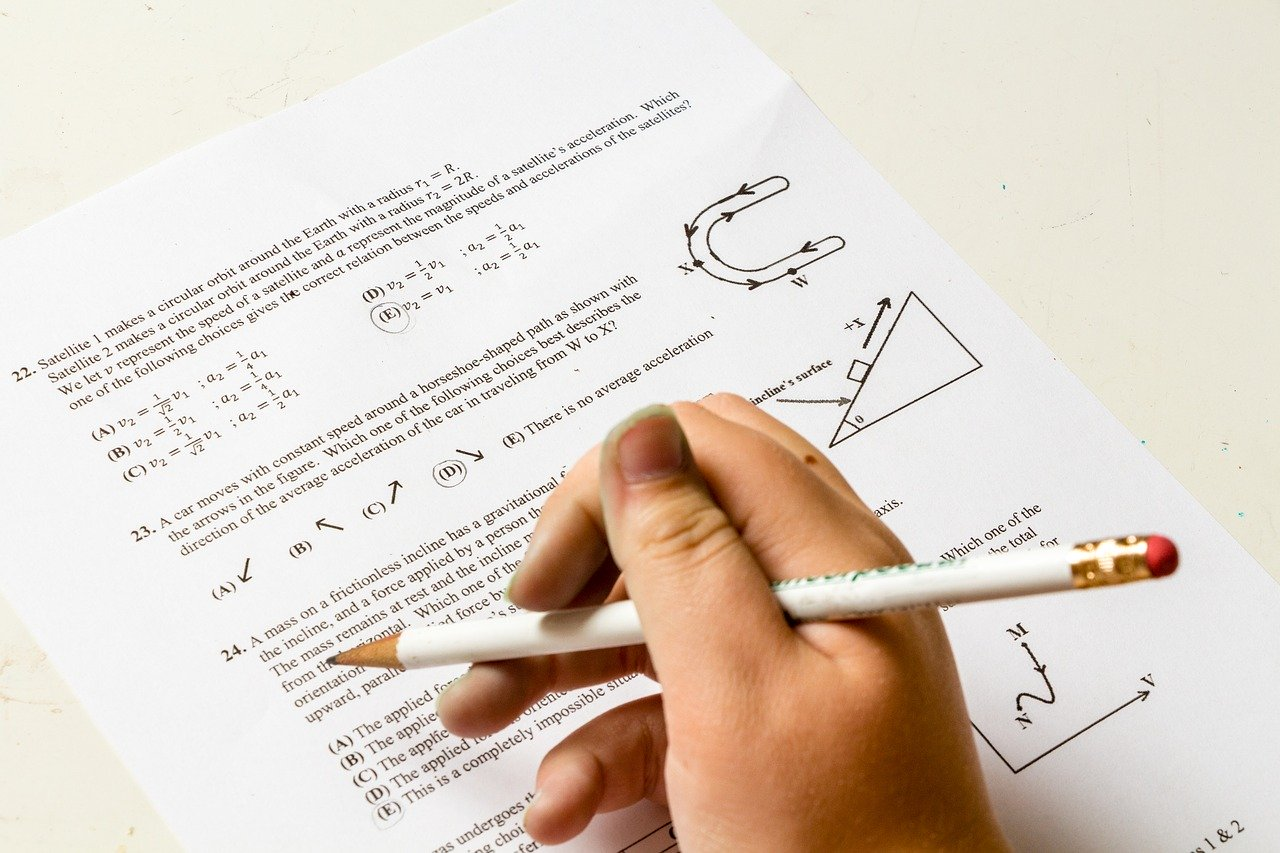 a hand writing math/ace exam practice tests
